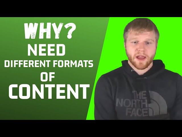Why You Need To Use Different Formats